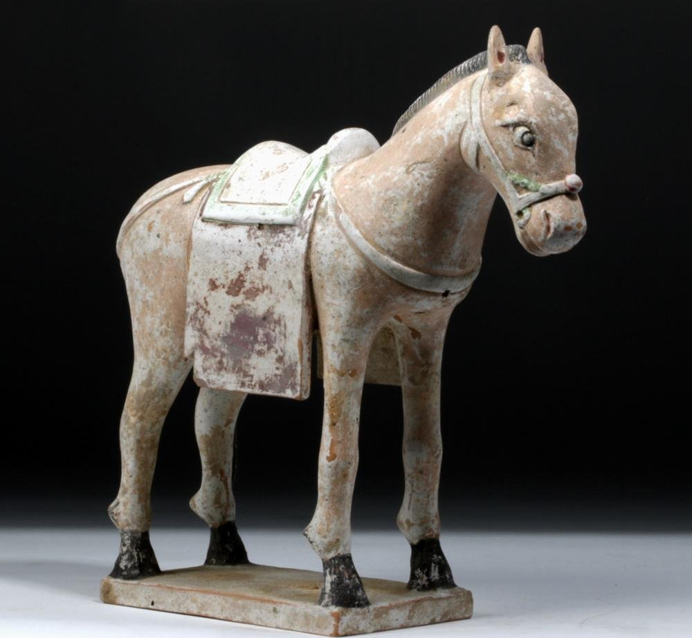 Chinese Ming Dynasty Polychrome Horse Figure