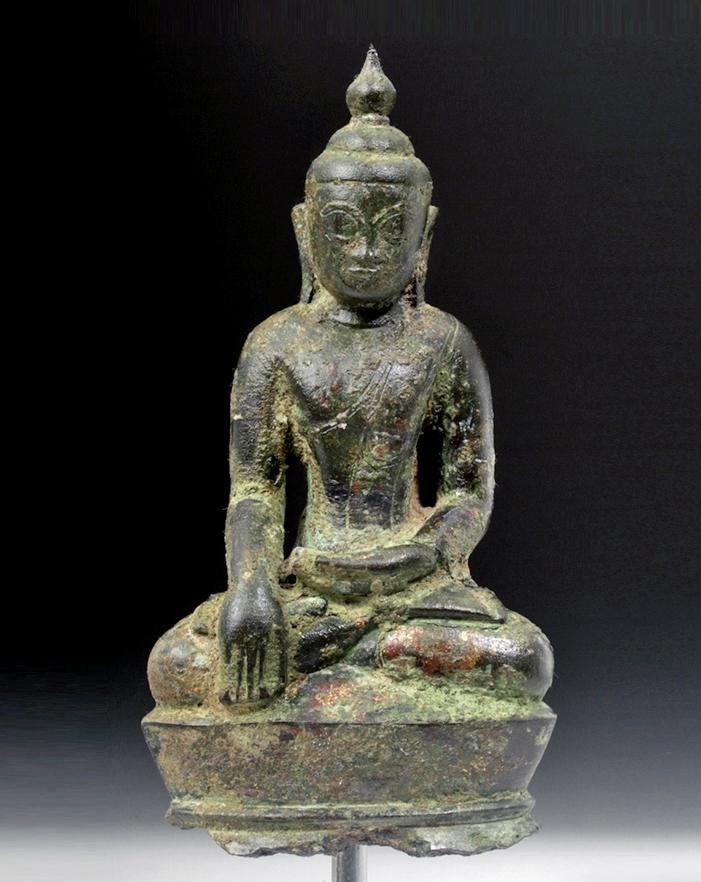 18th C. Burmese Shan / Tai Yai Bronze Buddha