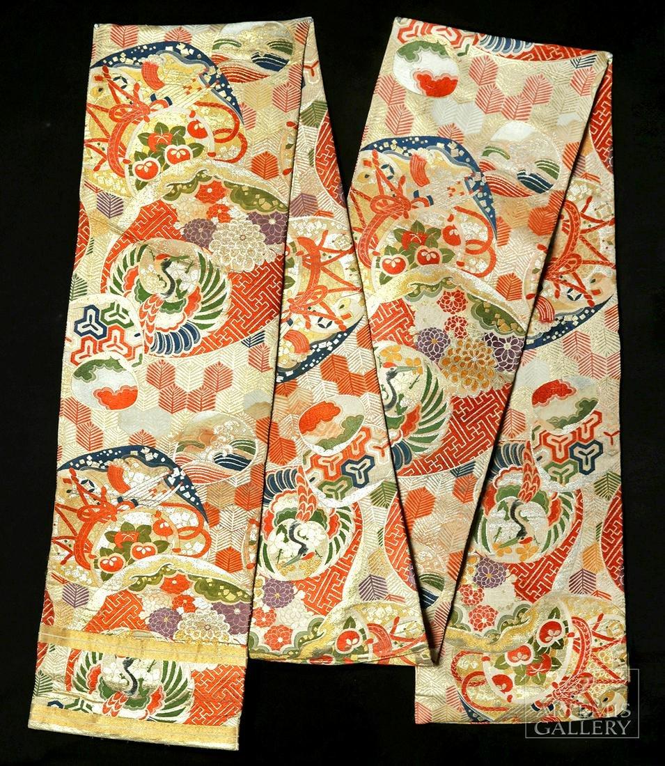 19th C. Japanese Edo Period Brocade Obi