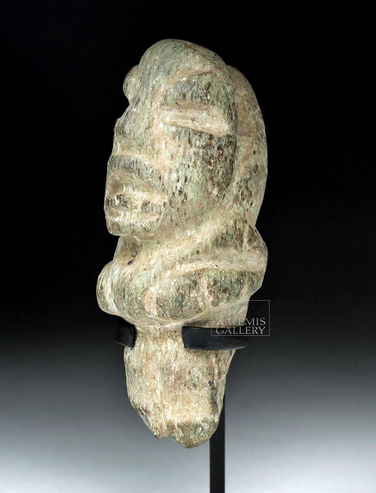 Olmec Greenstone Pendant - Standing Hunchback