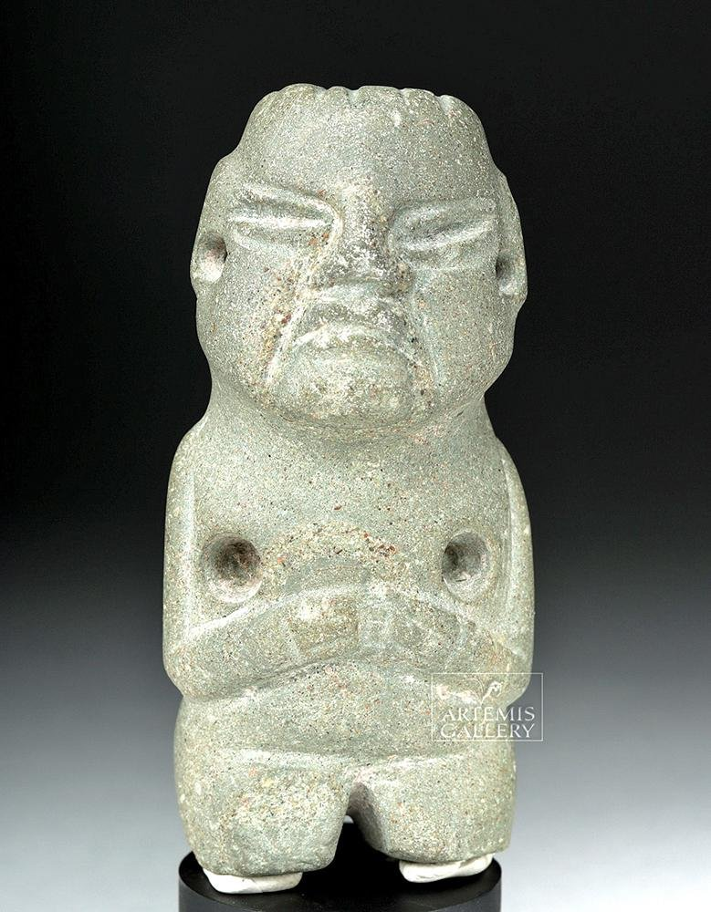 Olmec Greenstone Anthropomorphic Figure - Fierce!