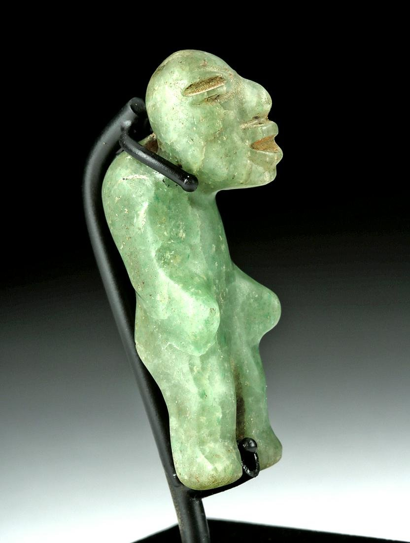 Miniature Olmec Jadeite Amulet of a Hunchback
