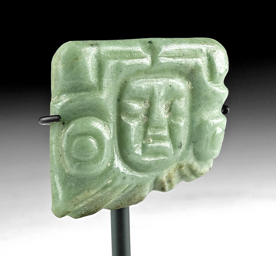 Fine Maya Jade Amulet - Anthropomorphic Face