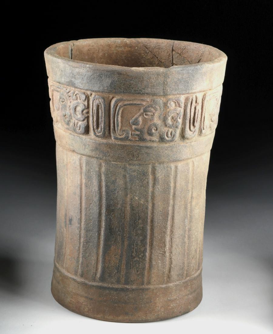Maya Brownware Cylinder Vessel - Glyphoids