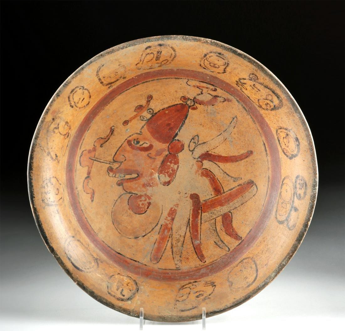 Maya Polychrome Plate - Head of Lord