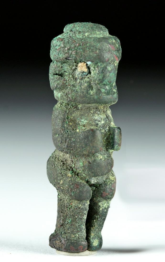 Rare Miniature Chavin Copper Figure w/ Pyrite Eyes
