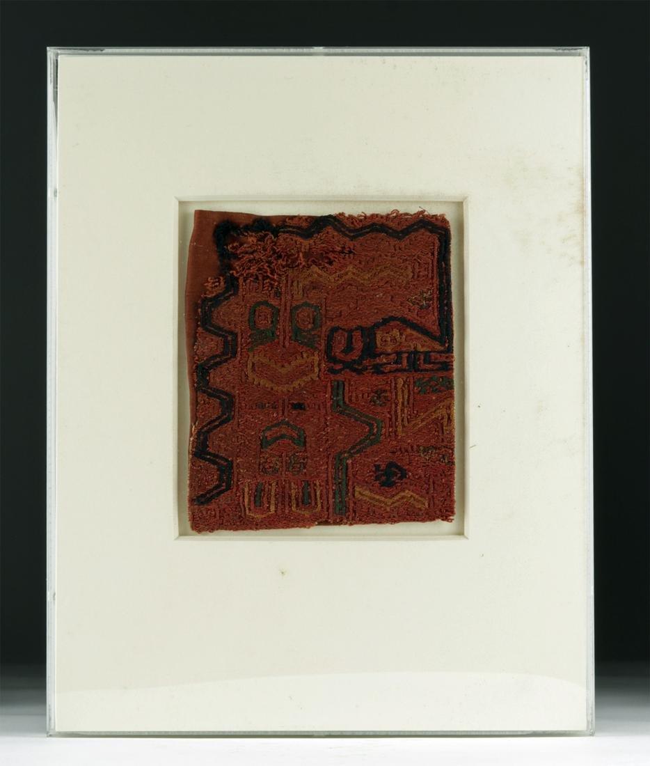 Framed Paracas Textile - Jaguars / Abstract Felines