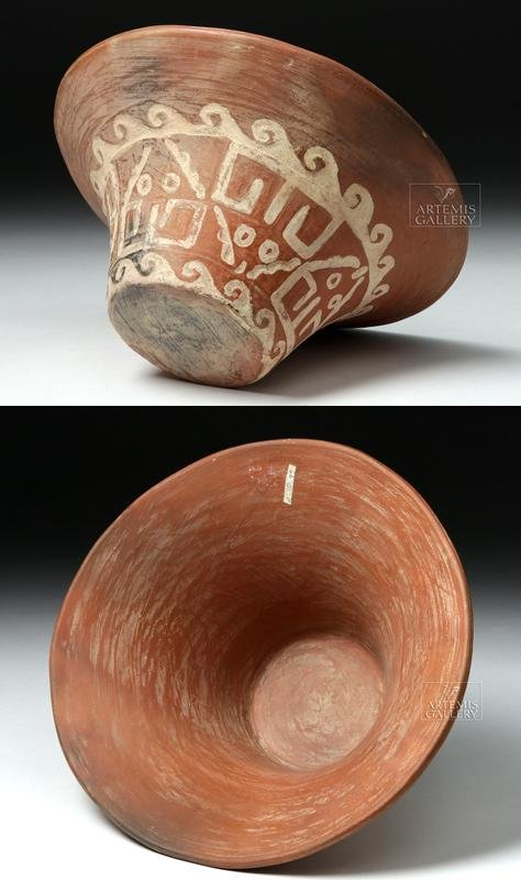 Moche Bichrome Pottery Florero / Flared Bowl