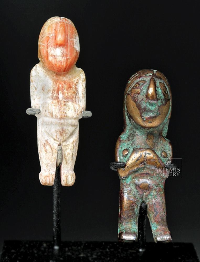 Miniature Incan Idols - Shell & Copper