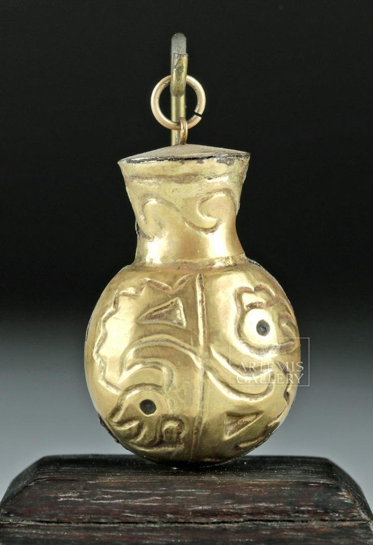 Quimbaya 14K Gold Poporo Vessel / Pendant