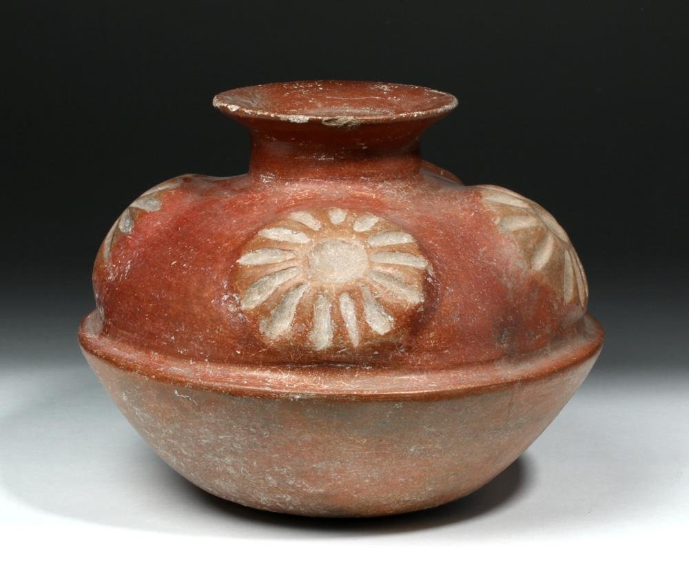 Colima Redware Olla w/ Peyote Buttons