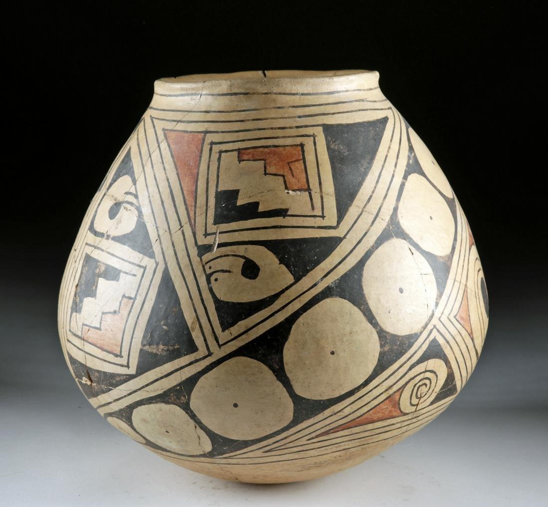 Large Casas Grandes Polychrome Pottery Vessel