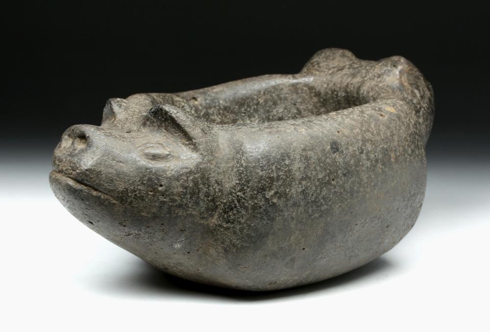 Argentinian Aguada Stone Vessel w/ Pig Heads