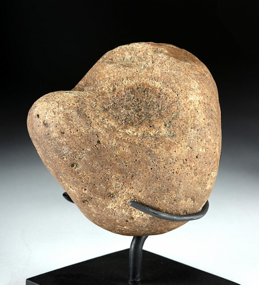 Native American Pacific Northwest Stone Humanoid Face