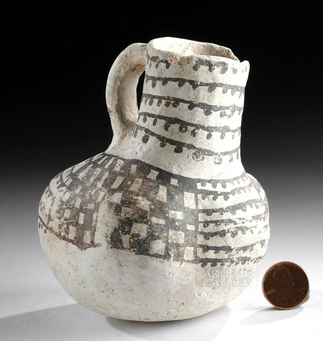 Anasazi Black-on-White Pottery Duck Effigy Vessel