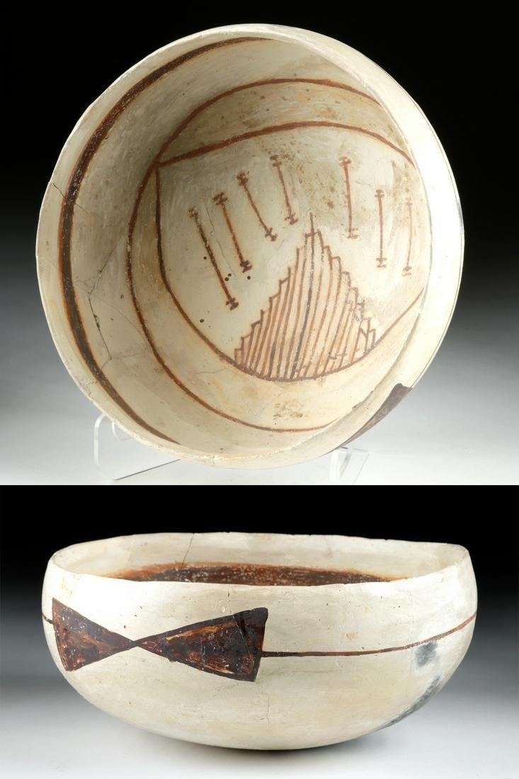 Prehistoric Anasazi Jeddito Black-on-Yellow Bowl