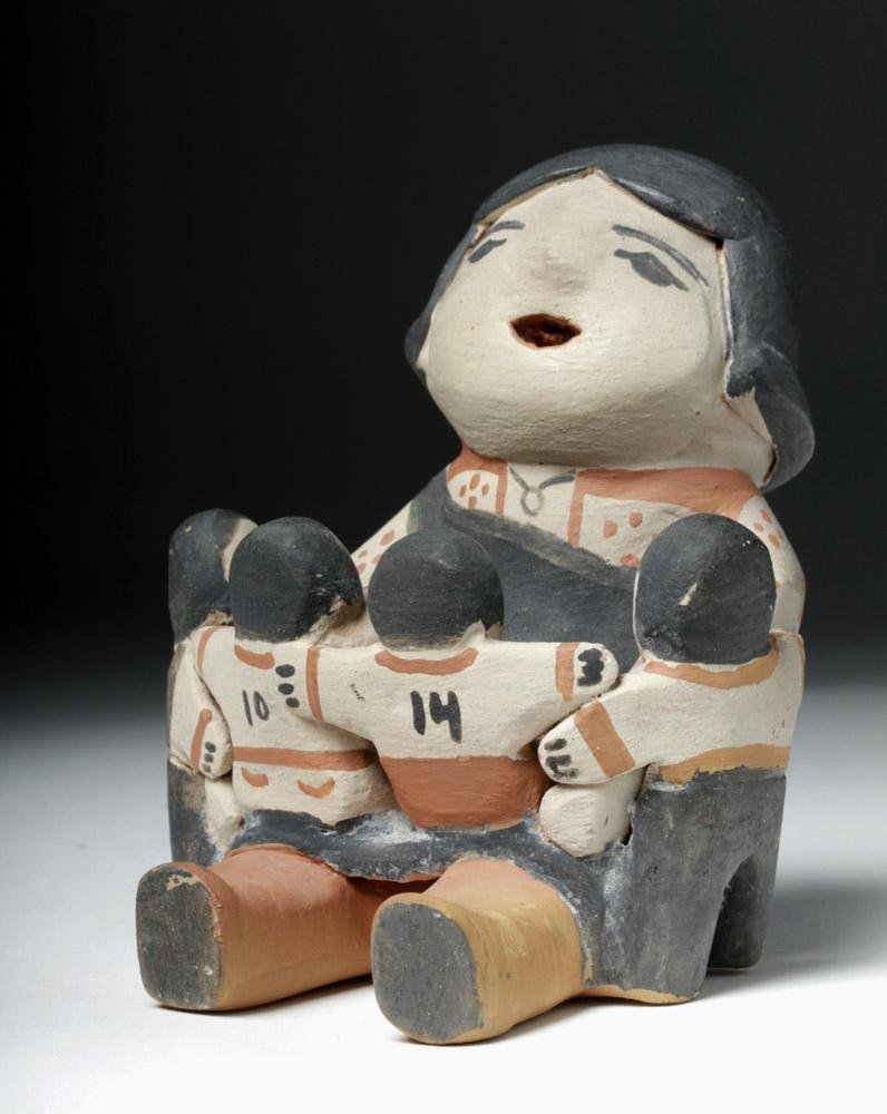 20th C. Cochiti Pueblo Pottery Storyteller, Grace Suina