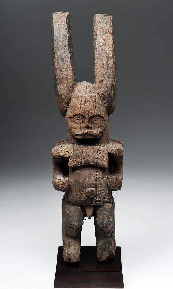 Early 20th C. African Igbo Wood Ikenga Figure