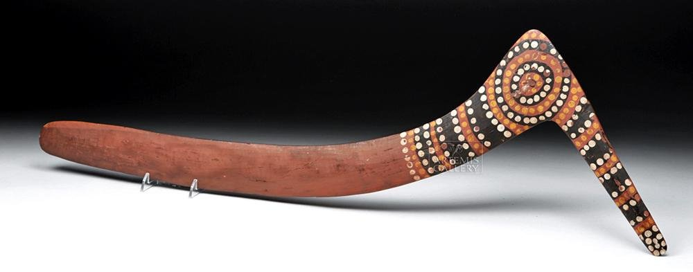 19th C. Aboriginal Painted Wood Fighting Club / Tool