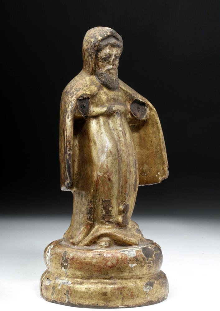 19th C. Mexican Gilded Wood Santo - St. Francis