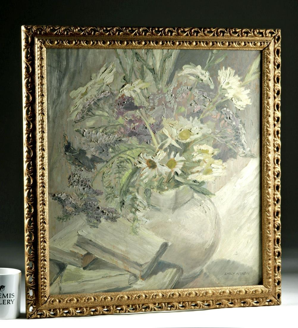 Signed C. E. Aitken Oil Painting - Silver Grey