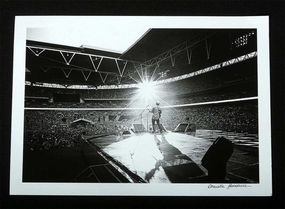 """Ed Sheeran at Wembley Stadium"" by Christie Goodwin"