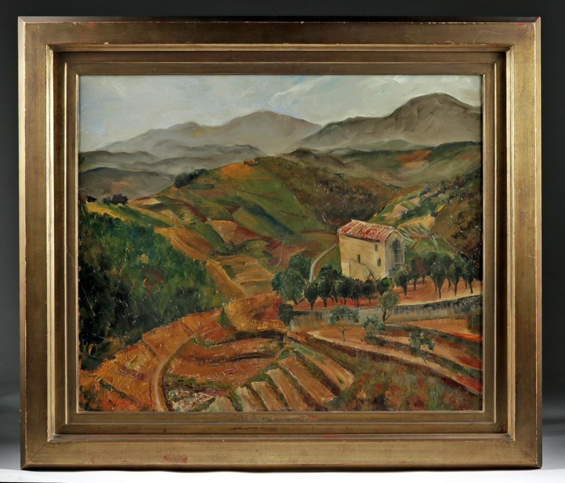 Berkeley Williams Painting of French Countryside, 1930s