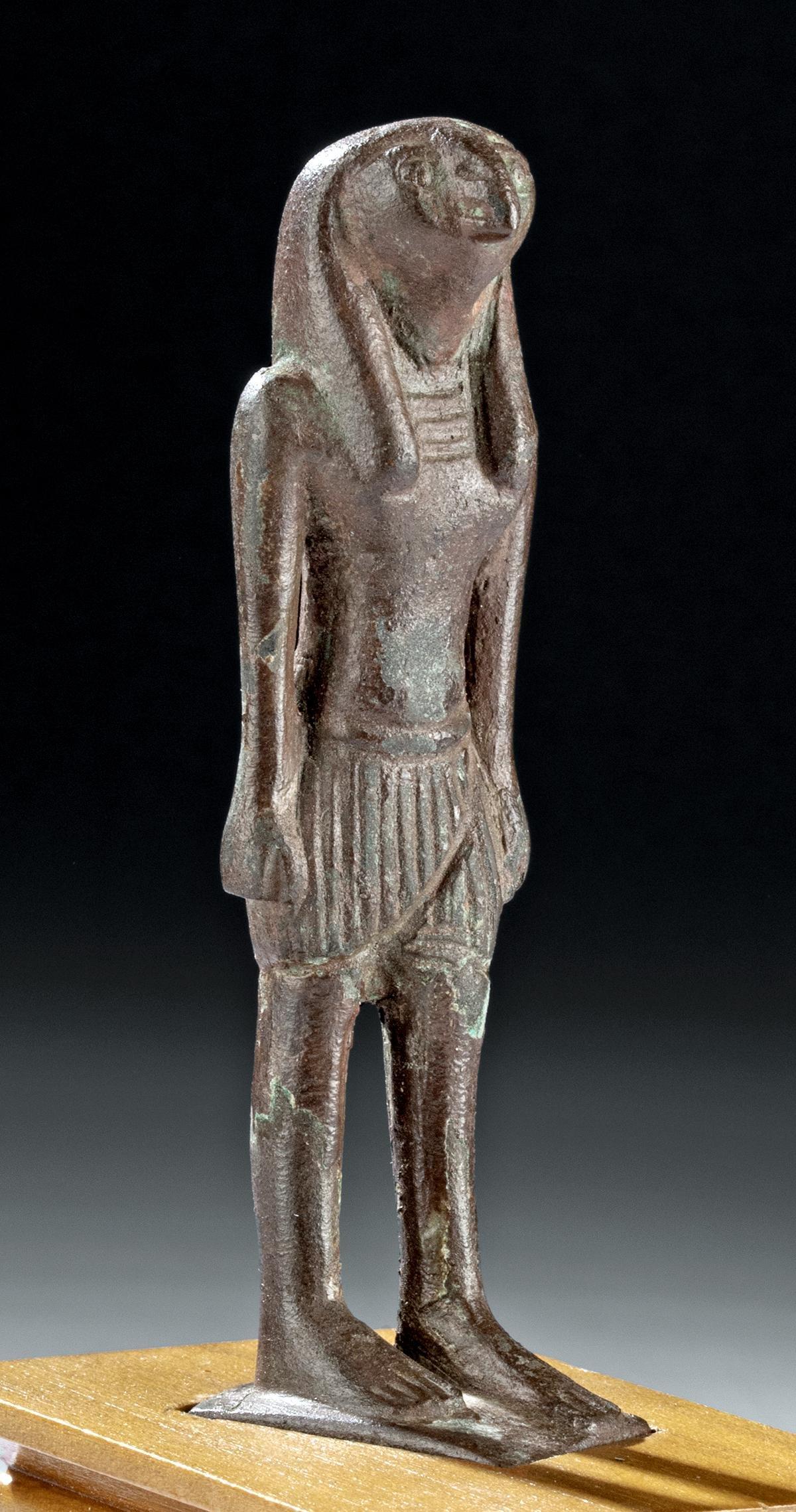 Egyptian Leaded Bronze Striding Ra Horakhty, ex-Mitry