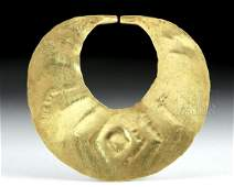 Moche 19K Gold Nose Ring  Crescent Form
