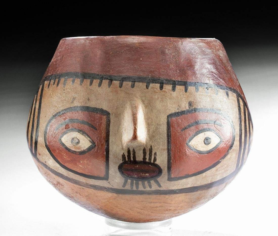 Nazca Polychrome Trophy Head Jar