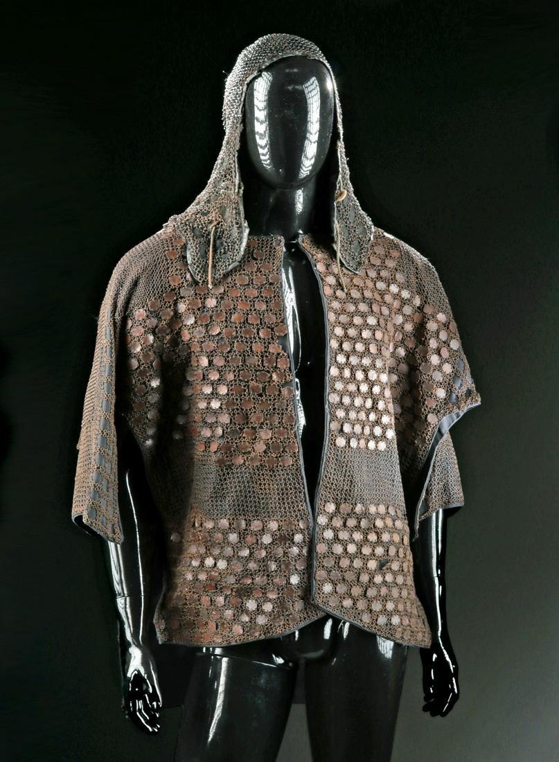 Japanese Edo Iron Kikko Chain Mail Tunic & Hood