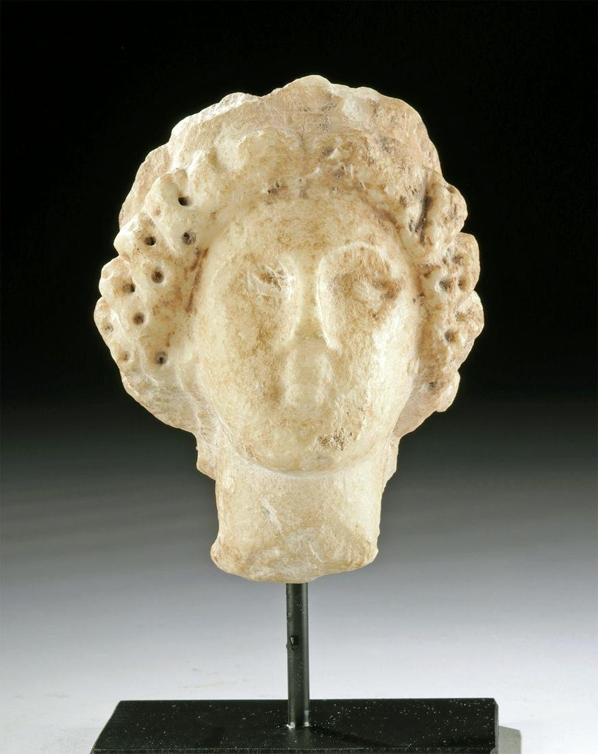 Roman Marble Head of a Female - Muse