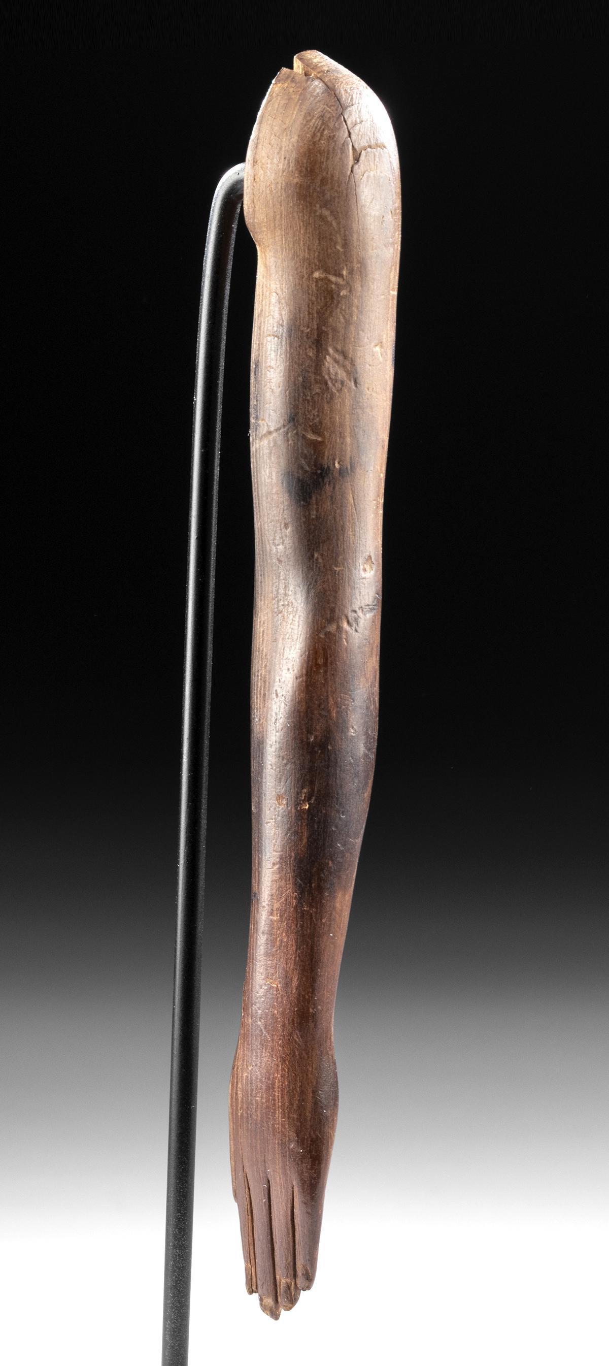 Egyptian Wood Left Arm from Statue - Art Loss Registere