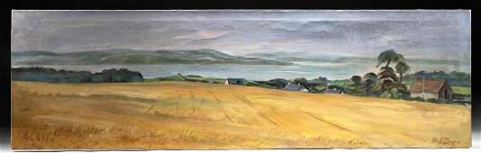 "William Draper Painting - ""Glen Fields, Ireland"" (1970)"