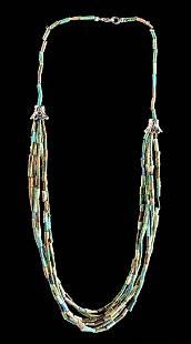 Egyptian Faience Beaded Necklace