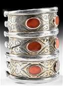 19th C Turkoman Tekke Gilt Silver Bracelet