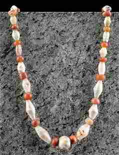 Bactrian Carnelian Agate Quartzite Bead Necklace