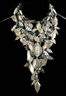 Signed Arthur Koby Costume Jewelry Necklace 1980s