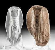 Egyptian Pottery Figure Mold of Goddess Hathor