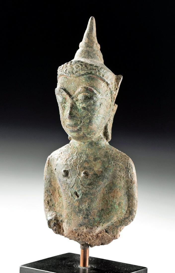 Late 16th C. Thai Bronze Buddha Torso