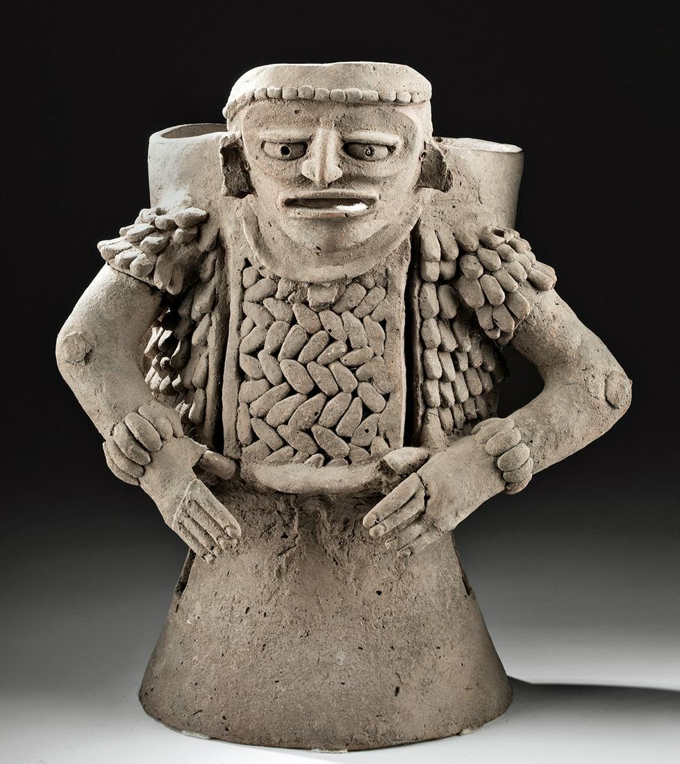 Zapotec Monte Alban III Pottery Figural Censer - TL'd
