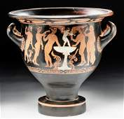 Published Attic Red-Figure Bell Krater - Eros & Maenads