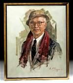 Award Winning & Exhibited W. Draper Self Portrait, 1988
