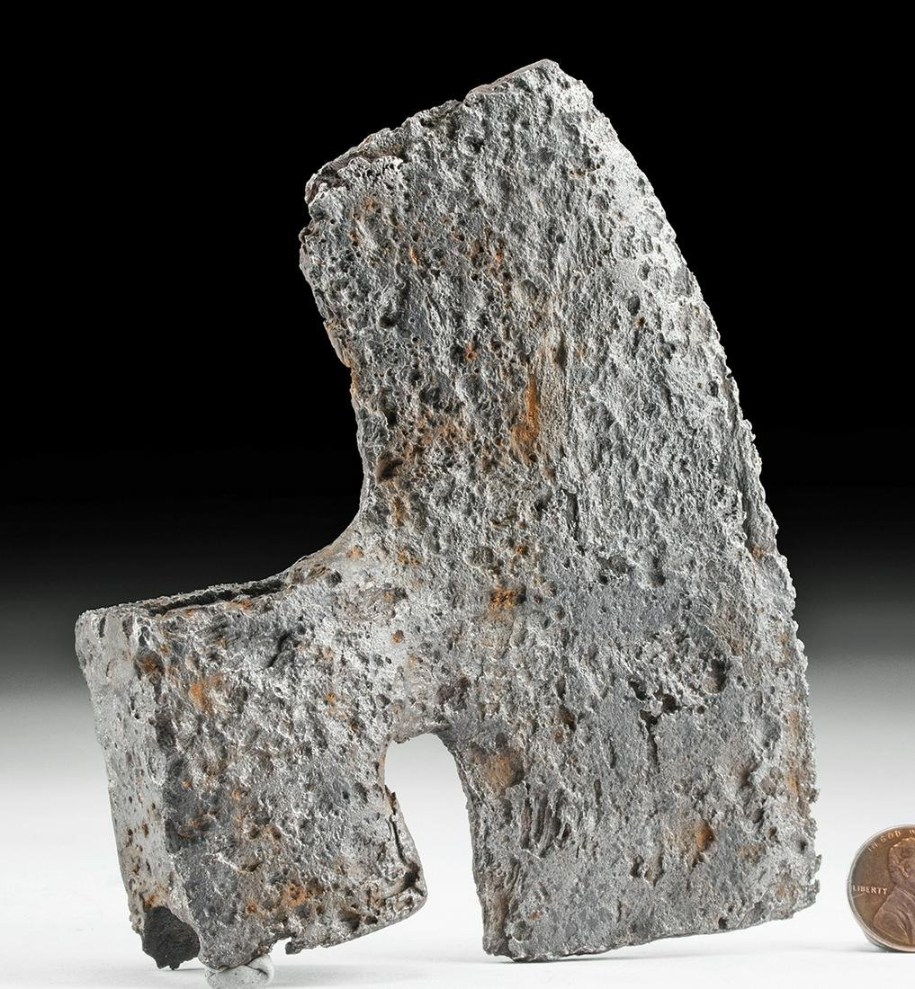 Fine Medieval European Iron Battle Axe Head