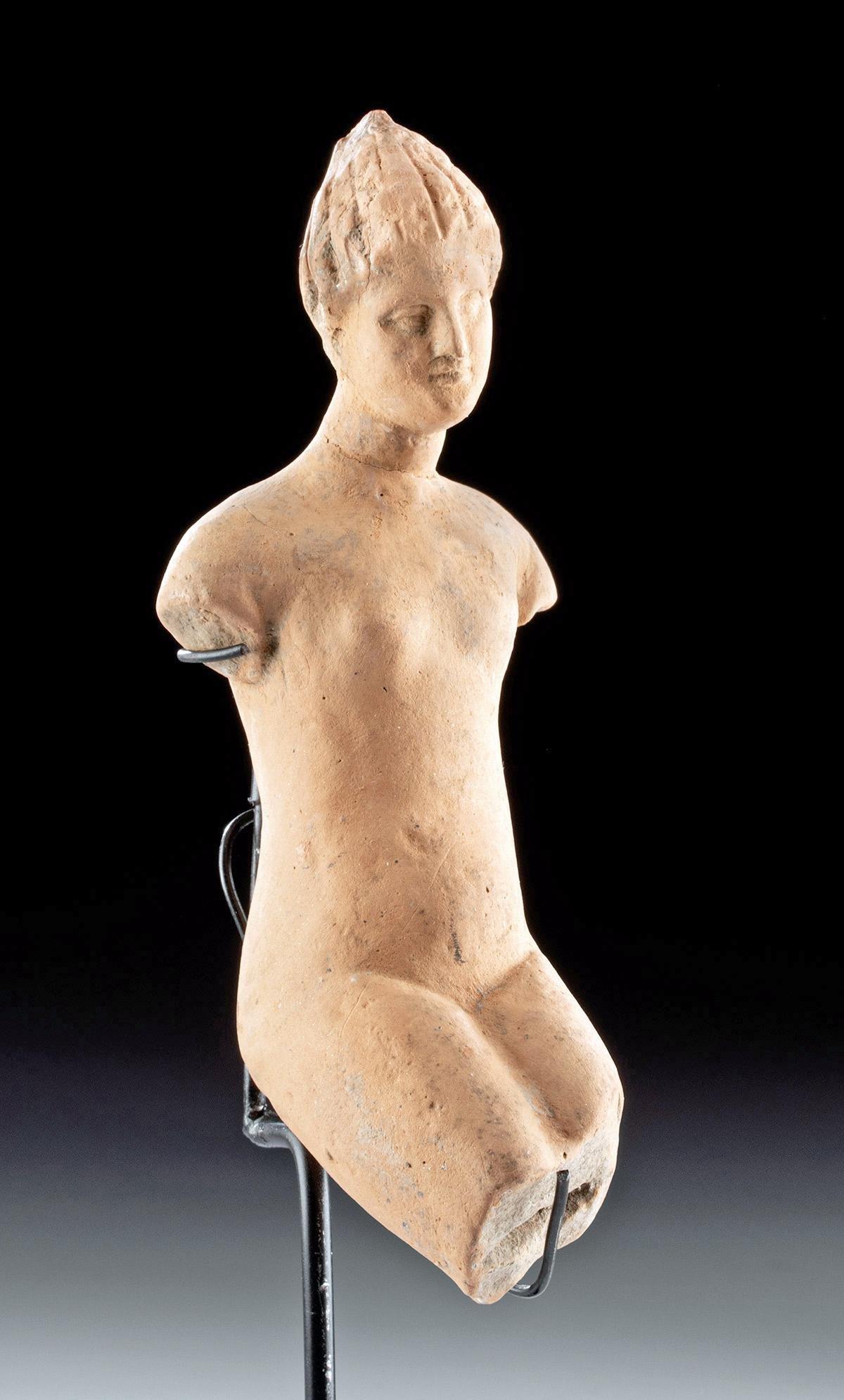 Greek Hellenistic Terracotta Figure - Nude Aphrodite