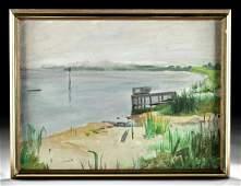 Framed William Draper Painting - Dusk, Bermuda - 1978