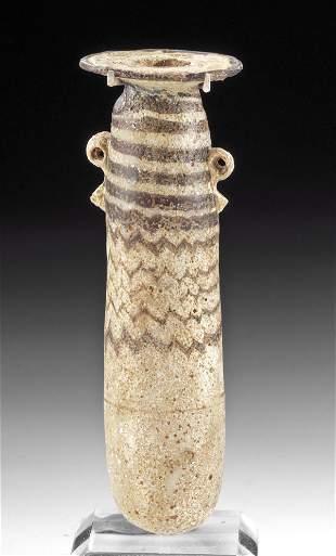 Greek Core Formed Glass Alabastron