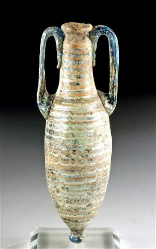 Greek Hellenistic Core Formed Glass Amphoriskos