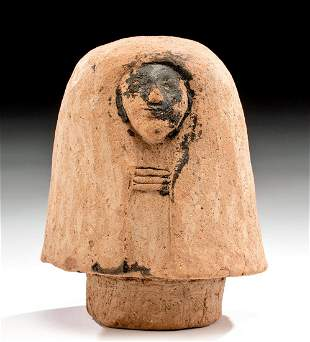 Egyptian Terracotta Canopic Jar Lid of Imsety TL Tested