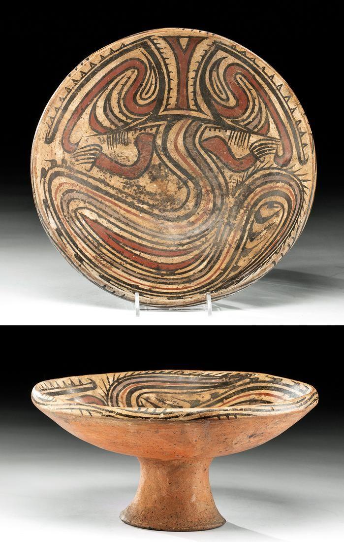 Panamanian Cocle Polychrome Pedestal Bowl
